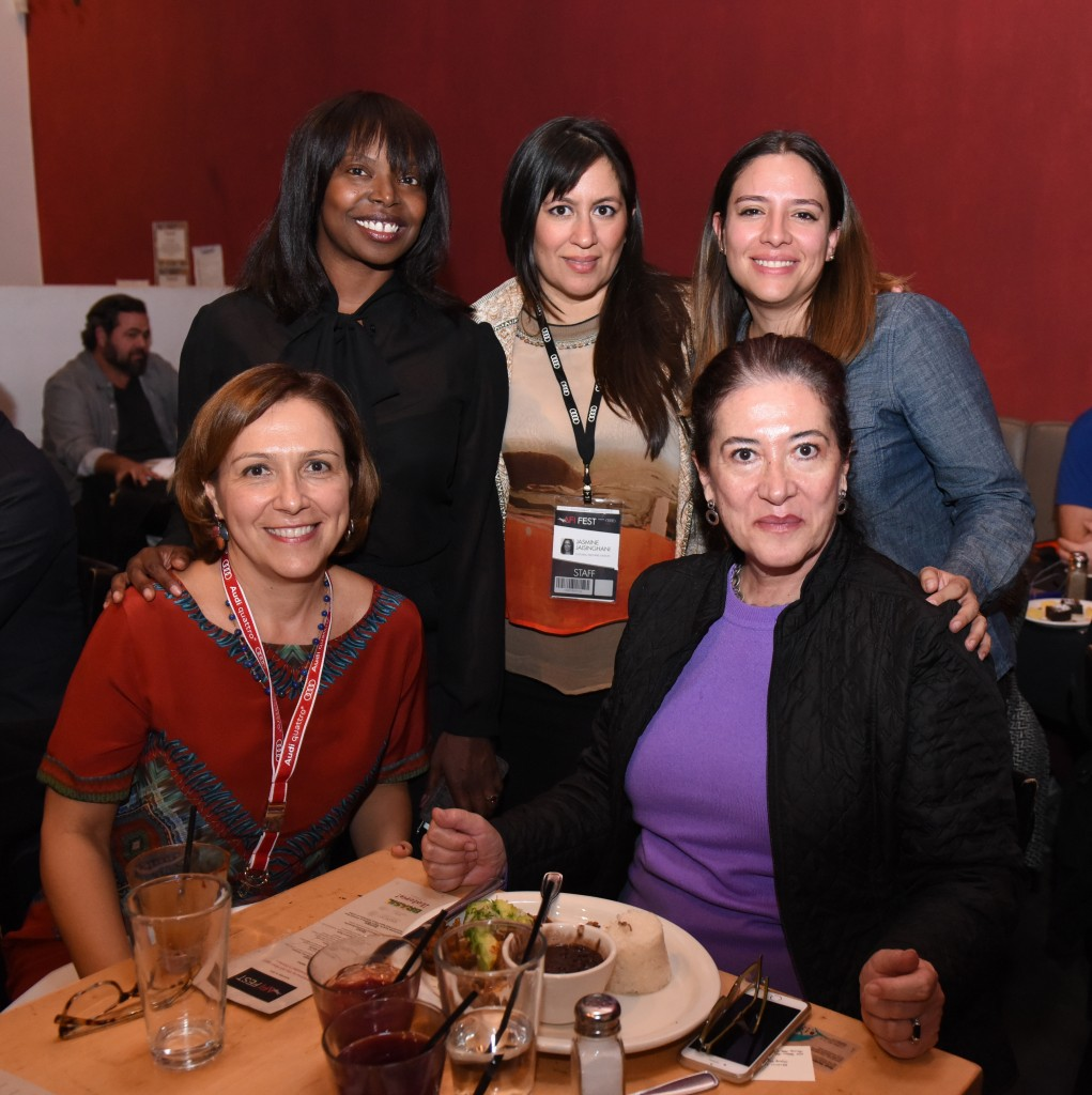 (L to R) Márcia Adorno Ramos (Deputy Consul of Brazil in Los Angeles); Jacqueline Lynaga  (AFI FEST); Jasmine Jaisinghani (AFI FEST); Maria Valentina Gómez (Cultural Affairs, Consulate General of Mexico in Los Angeles); Maria Elena Cabezut (Director of Cultural Affairs, Consulate General of Mexico in Los Angeles).