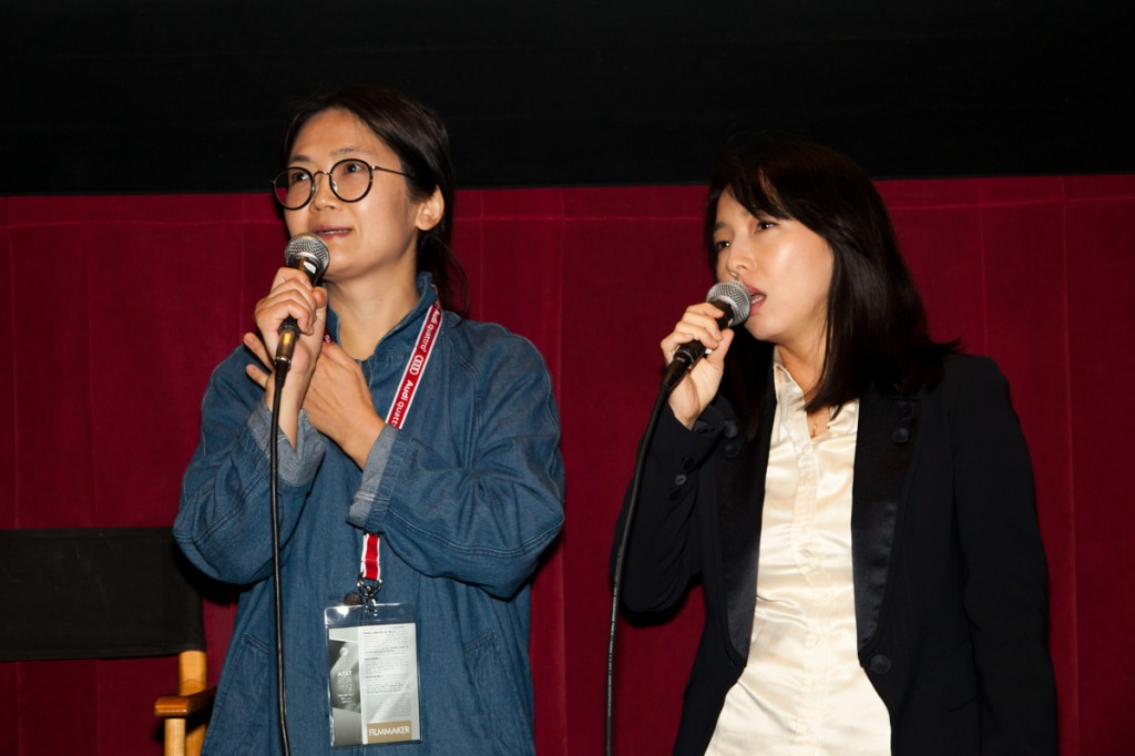 THE LIAR director Kim Dong-myung answers questions following her screening supported by the Korean Cultural Center Los Angeles (KCCLA) and the Korean Film Council (KOFIC).