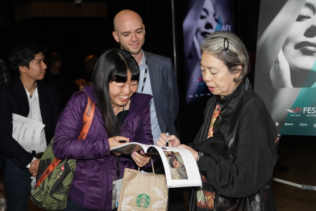 SWEET BEAN actress Kiki Kirin signs autographs before her screening supported by Japan Foundation Los Angeles.