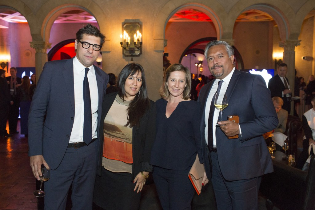 Consul General of France, Christophe Lemoine; Jasmine Jaisinghani (AFI FEST), Severine Madinier (Executive Director, French Film &TV Office), Samson Verma.