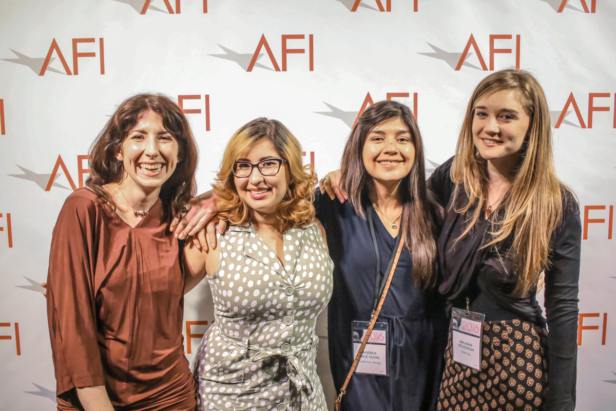 VESSELS team, L to R: Marianne Williams (cinematographer), Steph Perez (editor), Andrea Arce Duval (production designer), Arkasha Stevenson (writer/director)