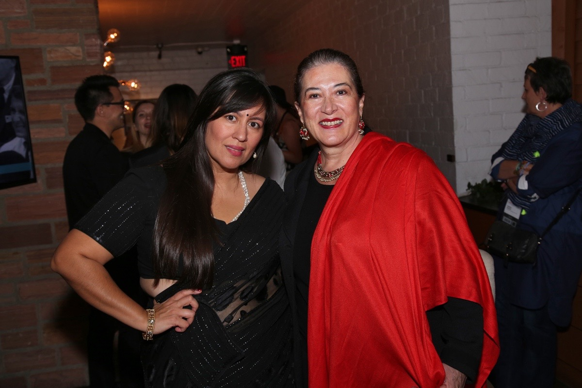 (L to R) Jasmine Jaisinghani (AFI FEST) and Maria Elena Cabezut (Director of Cultural Affairs, Consulate General of Mexico in Los Angeles) at the Francophone Reception