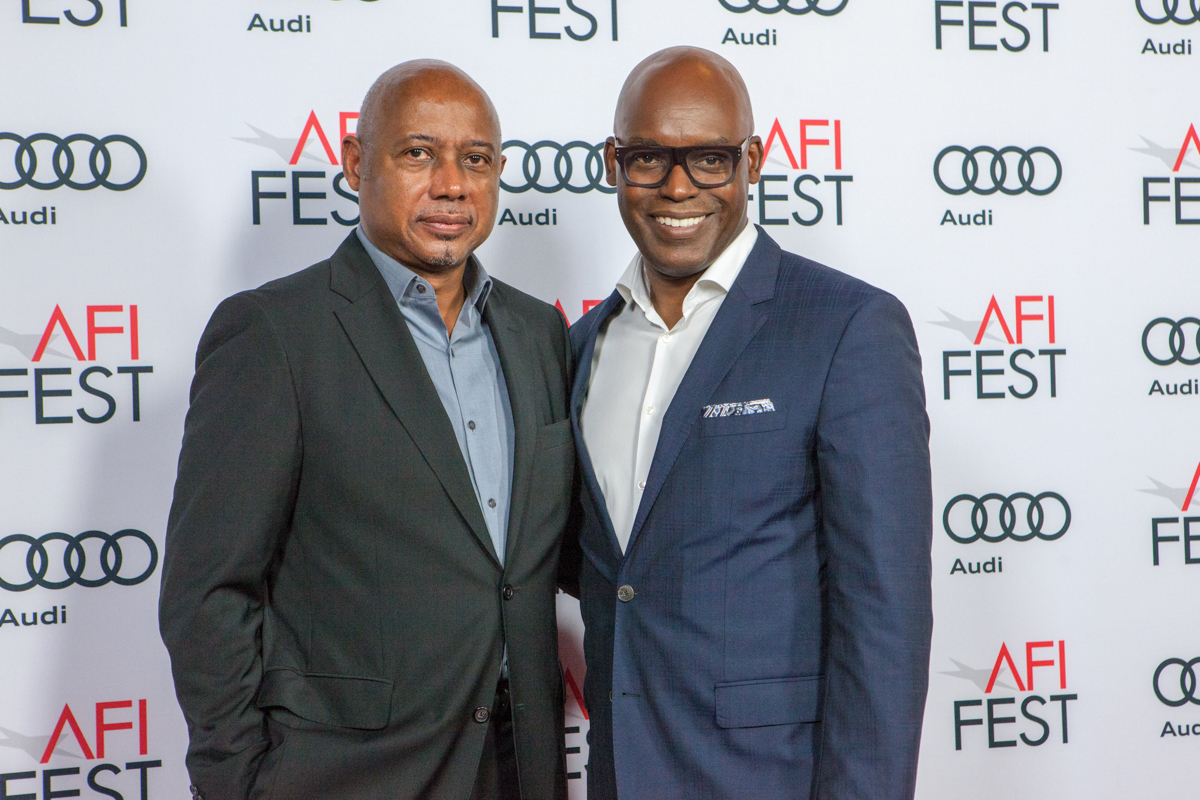 (L to R) Raoul Peck (Director, I AM NOT YOUR NEGRO) and Cameron Bailey (Artistic Director, Toronto International Film Festival) arrive for World Cinema Masters in Conversation. Cultural Support provided by Telefilm Canada.