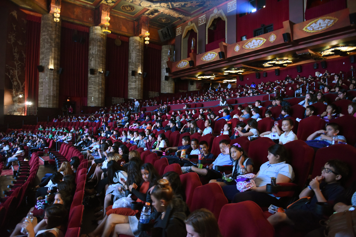 AFI FEST's Screen Education screening of Disney's MOANA supported by Latino Film Institute Youth Cinema Project, The Brotman Foundation of California and the Department of Cultural Affairs. Over 500 students were in attendance from over 12 schools.