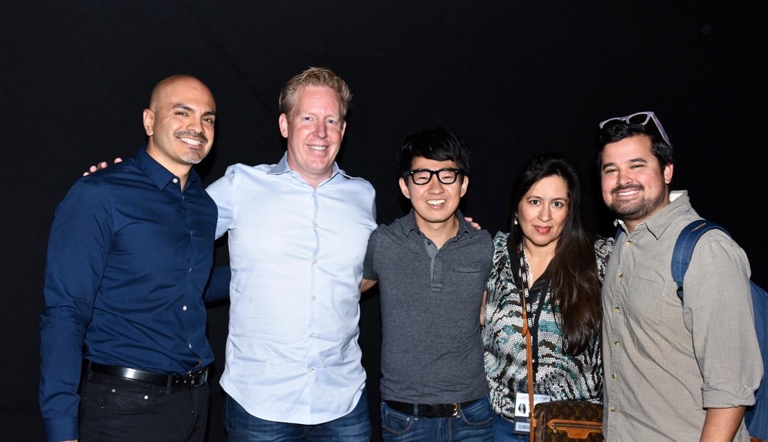 (L to R) Rafael Agustin (Executive Director, Latino Film Institute Youth Cinema Project); Jared Bush (screenwriter, MOANA); Leo Matsuda (director, INNER WORKINGS); Jasmine Jaisinghani (AFI FEST); Garth Burkhard (Walt Disney Animation Studios)