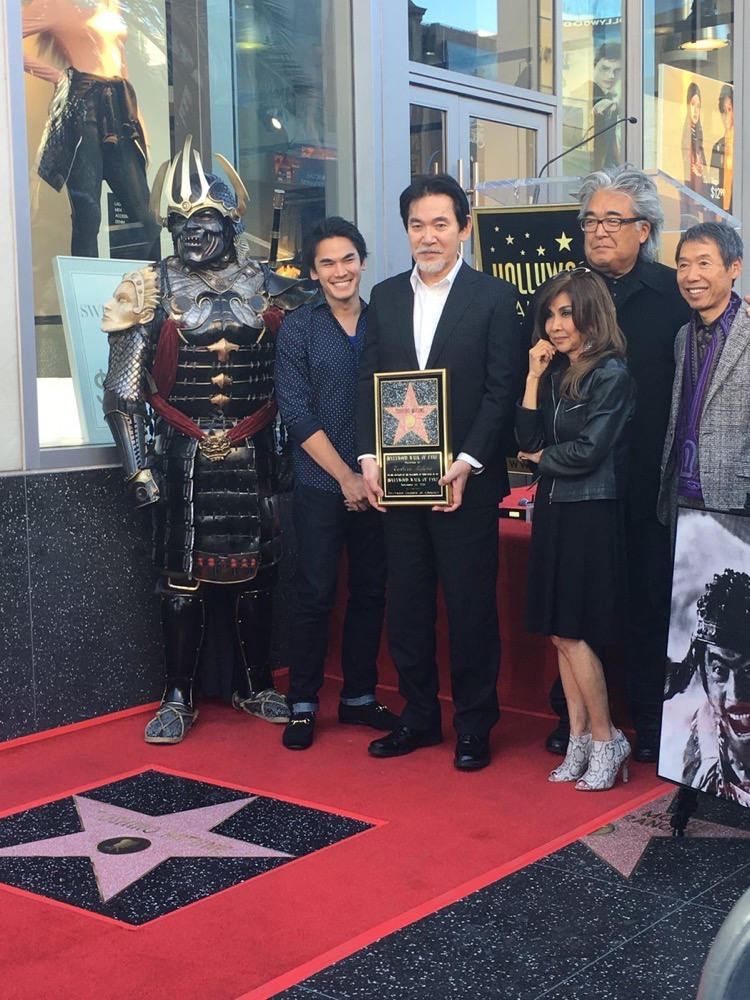 (L to R) Rikiya Mifune, Shiro Mifune and family; Steven Okazaki (Director, MIFUNE: THE LAST SAMURAI) attend Toshiro Mifune's posthumous star on the Hollywood Walk of Fame