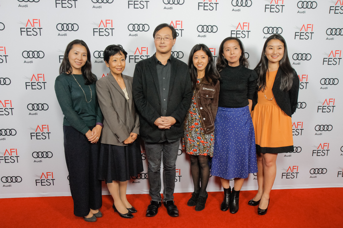 (L to R) Sakiko Okada (Japan House Los Angeles); Yuko Kaifu (President, Japan House Los Angeles), Koji Fukada (Director, HARMONIUM); Mariko Ban (Japan House Los Angeles); Tomoko Beadle (Japan House Los Angeles); Lisa Nakanouchi (Japan House Los Angeles)