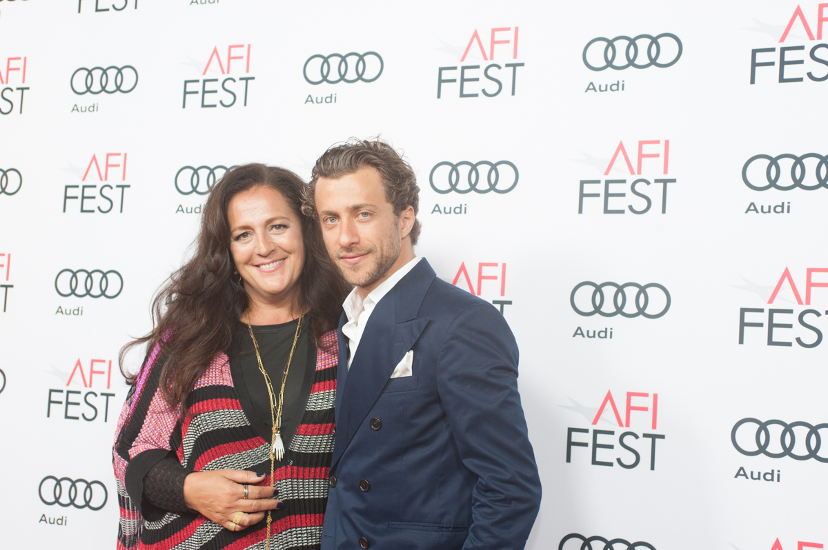 (L to R) Angela Missoni and Francesco Carrozzini (Director, FRANCA: CHAOS AND CREATION)