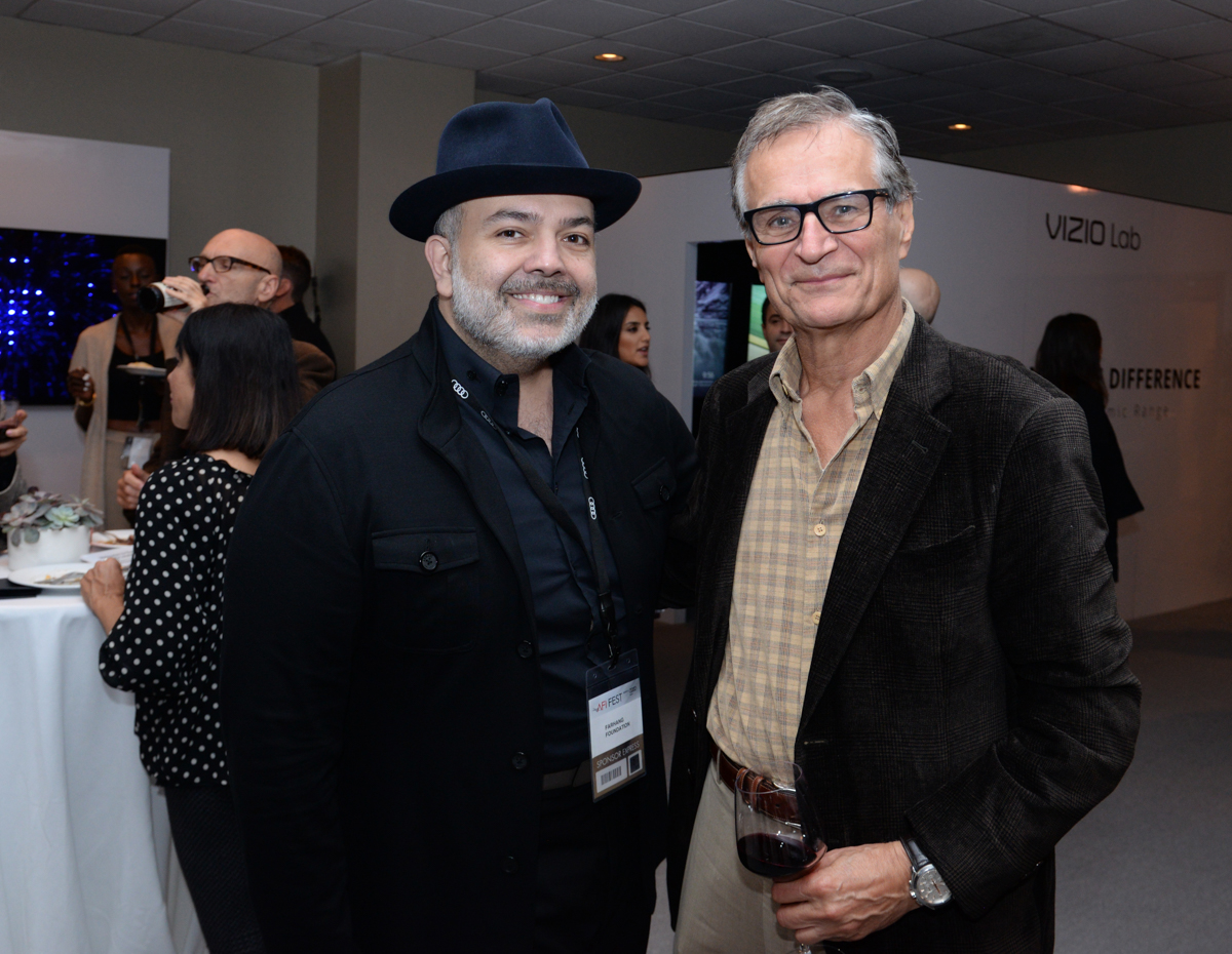(L to R) Alireza Ardekani (Executive Director, Farhang Foundation) and with Ali C. Razi (Chairman of the Board, Farhang Foundation) attend their reception celebrating Iranian Cinema.