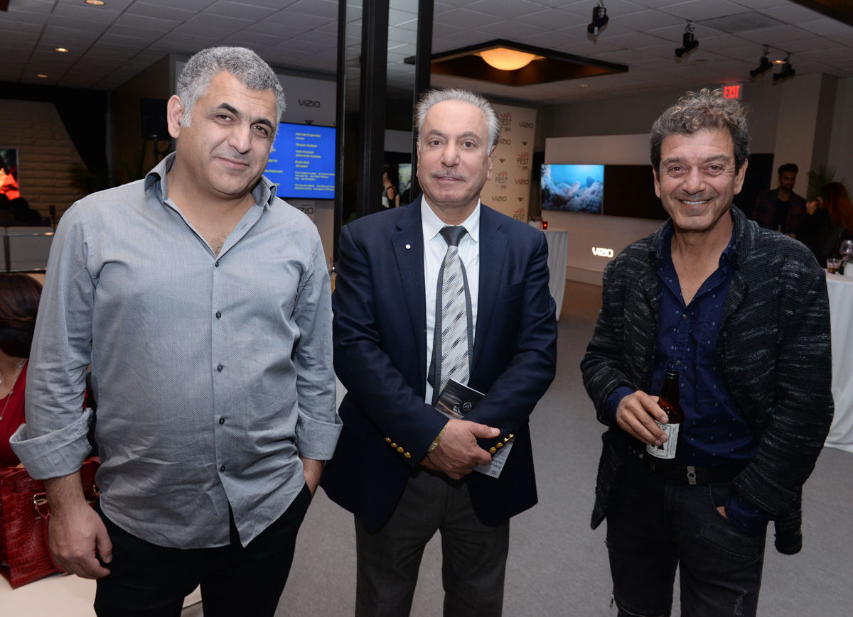 (L to R) Mani Haghighi (Director, A DRAGON ARRIVES!) with festival guests
