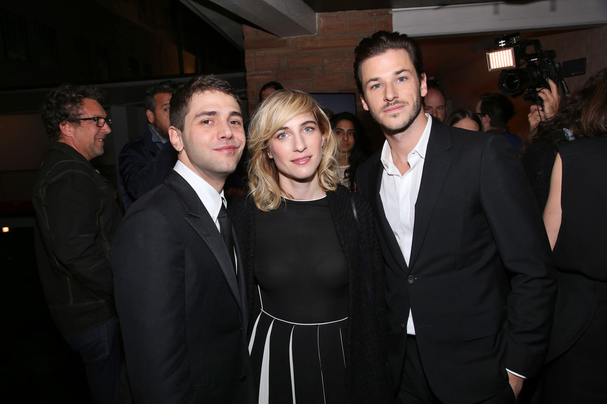 (L to R) Xavier Dolan (Director, IT'S ONLY THE END OF THE WORLD); Nancy Grant (Producer, IT'S ONLY THE END OF THE WORLD); Gaspard Ulliel (Actor, IT'S ONLY THE END OF THE WORLD) at the Francophone Reception