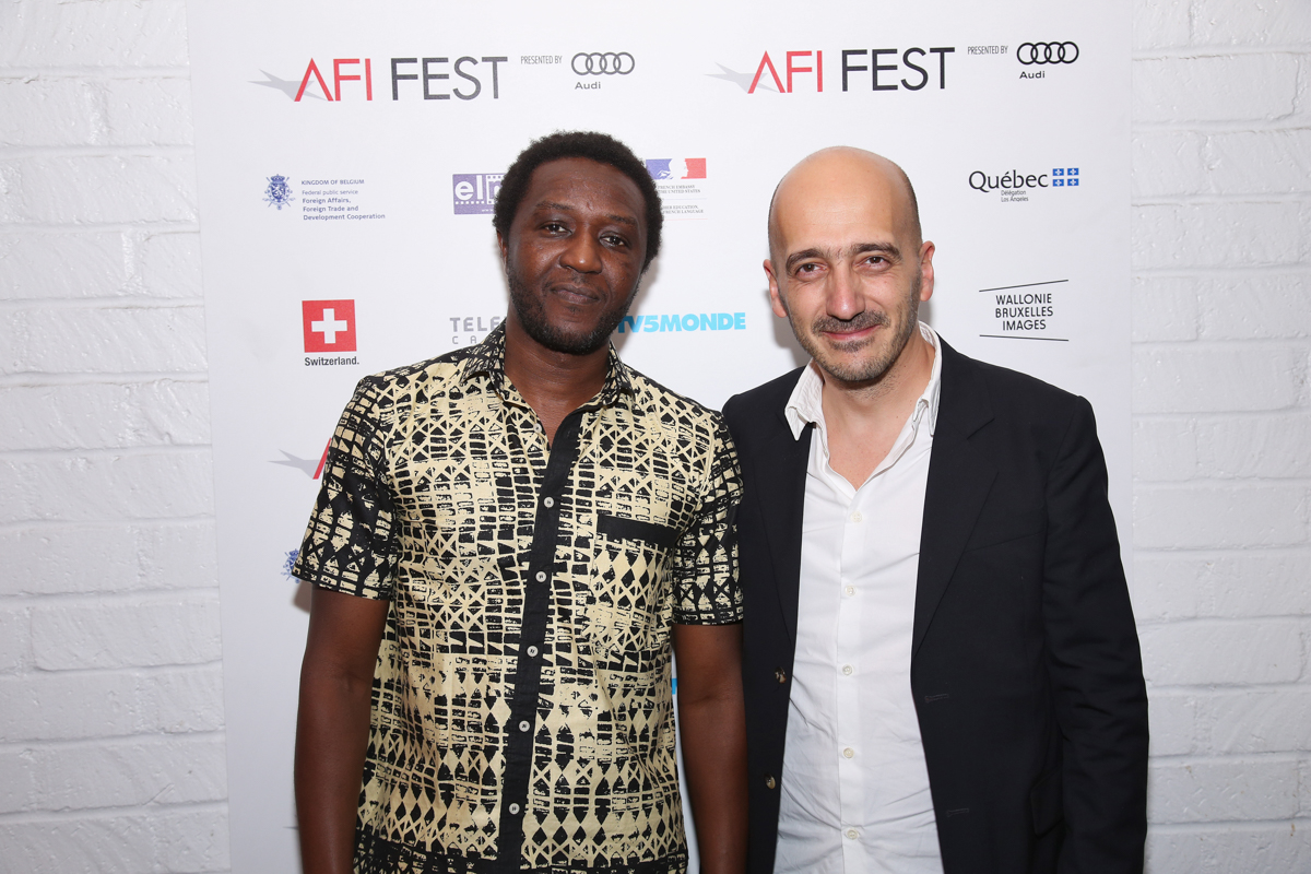 (L to R) Daouda Coulibaly (Director, WÙLU) and Eric Neveux (Composer, WÙLU) at the Francophone Reception