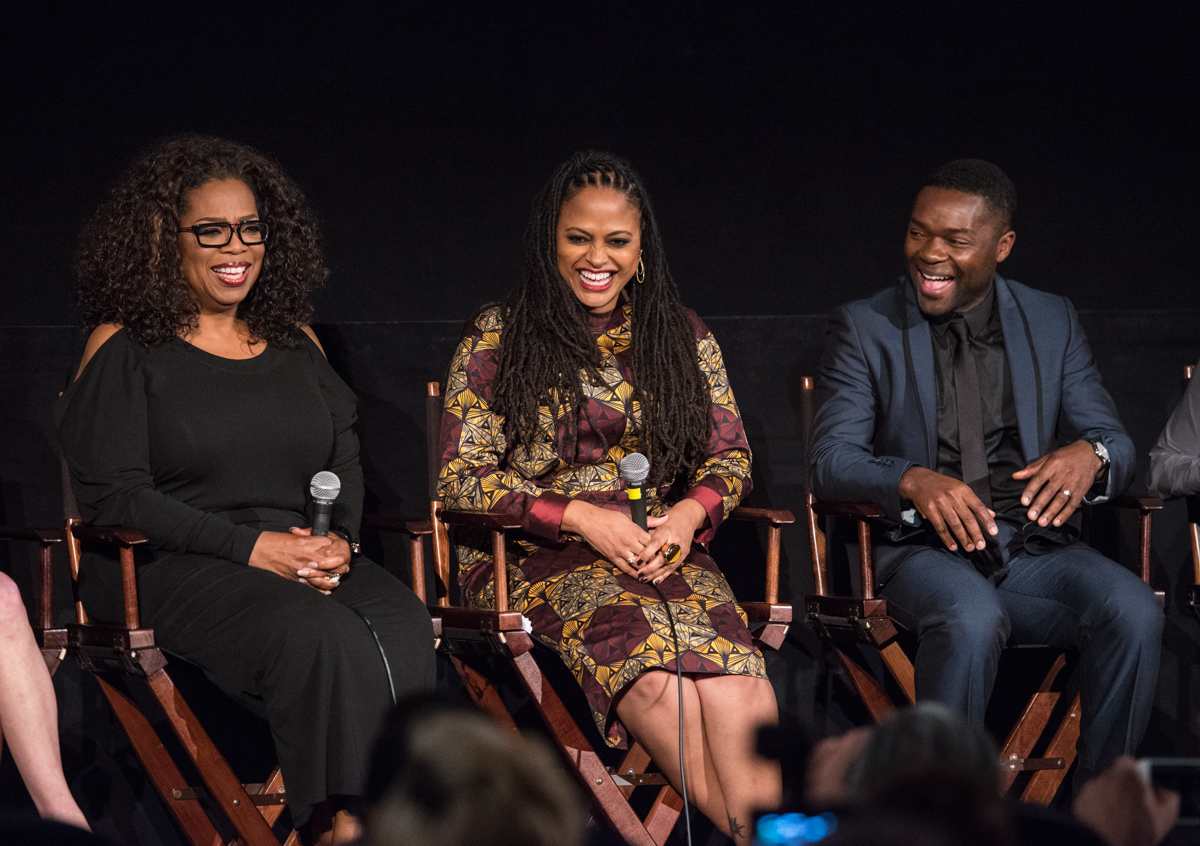 Oprah Winfrey, Ava Duvernay and David Oyelowo at the AFI FEST 2014 presented by Audi Secret Screening of SELMA