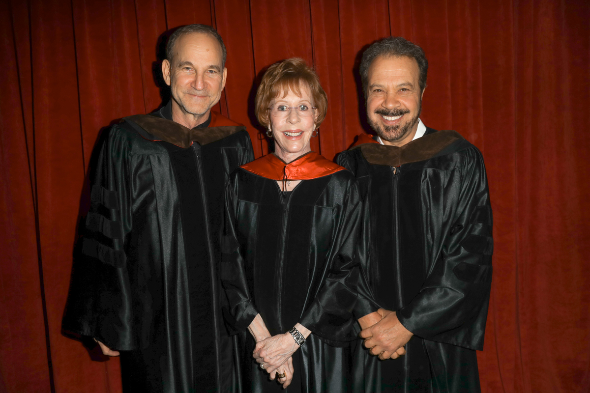 AFI Honorary Degree recipients Marshall Herskovitz, Carol Burnett and Edward Zwick