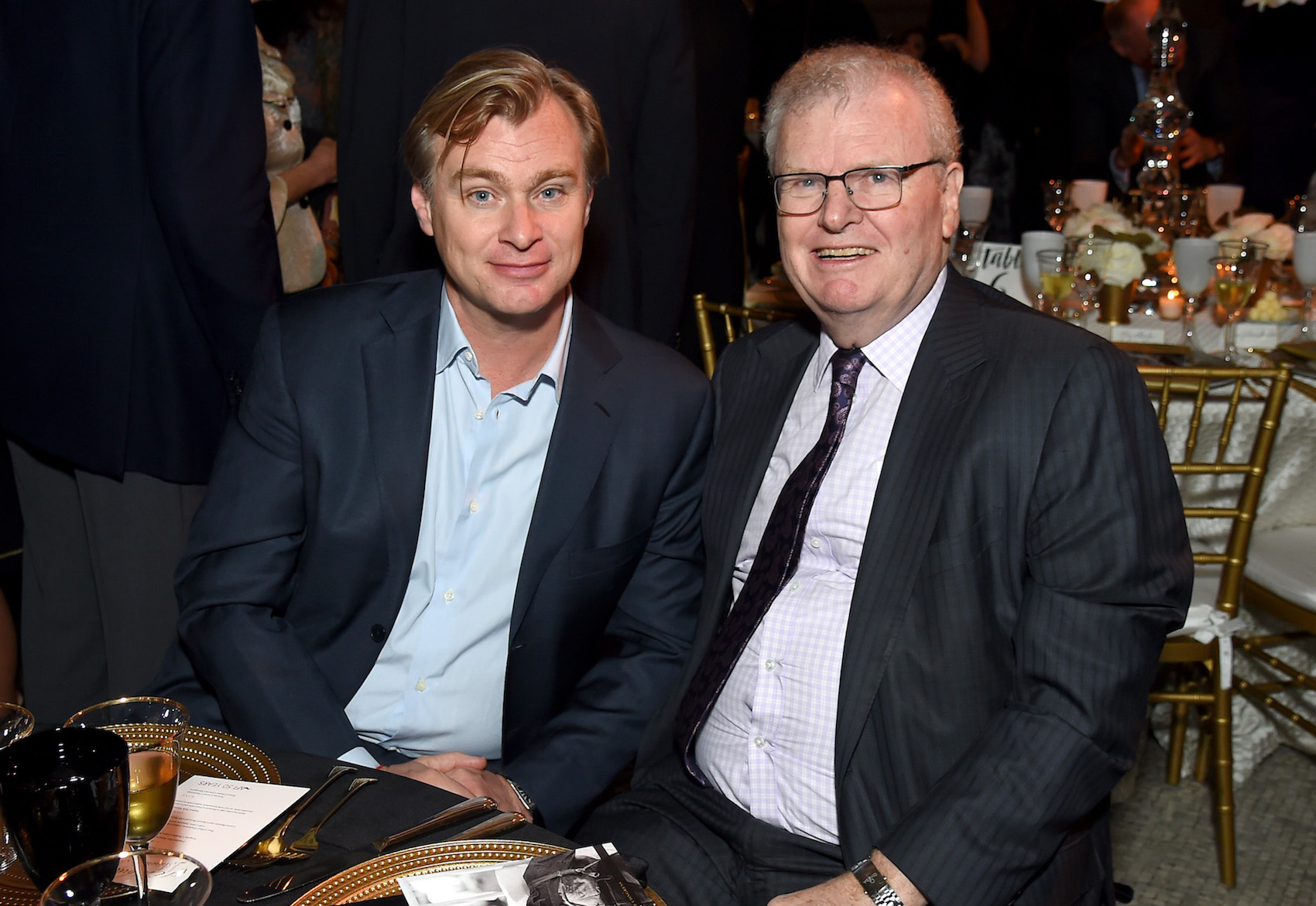 Christopher Nolan and AFI Board of Trustees Chairman Sir Howard Stringer