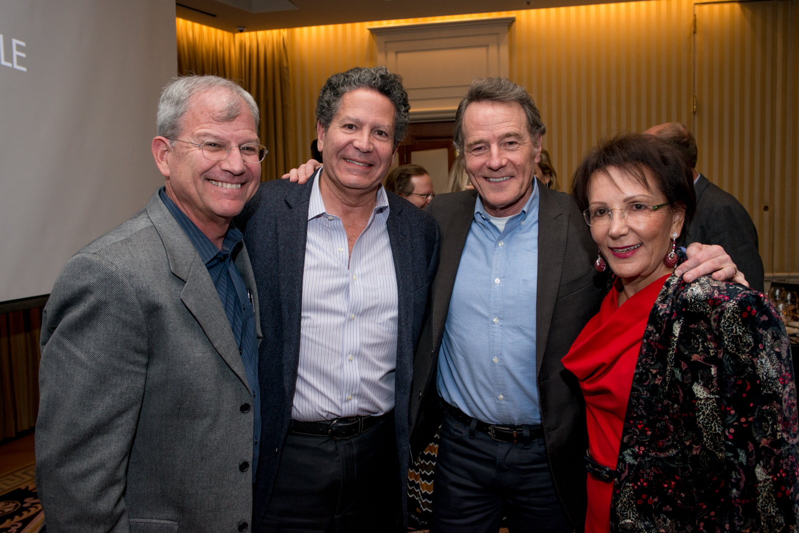 Bryan Cranston with event guest Robert Starkman and AFI Premiere Circle members Alfred Somekh and Liz Merage
