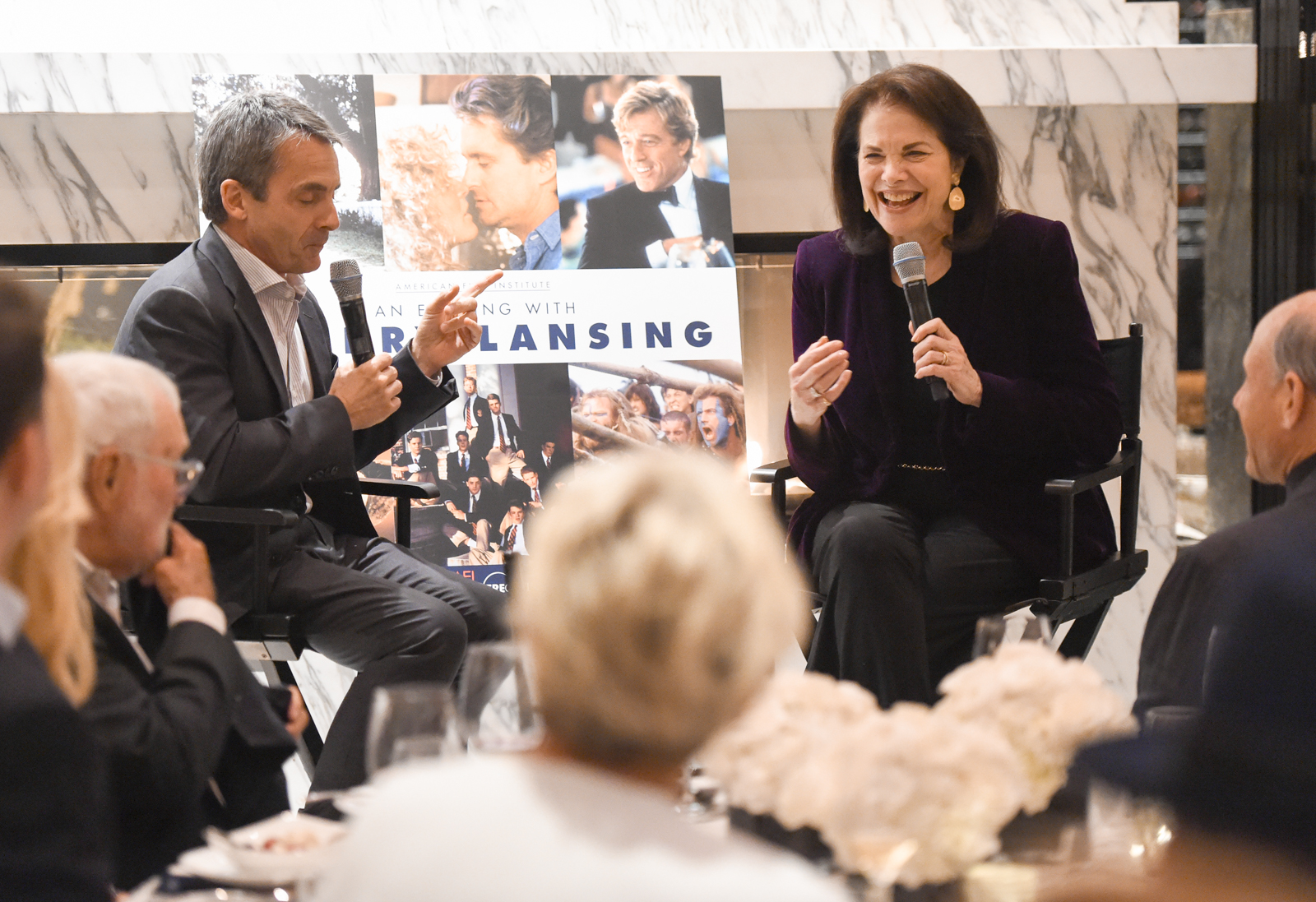 Sherry Lansing speaking to AFI Premiere Circle and National Council members